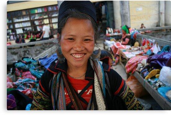 Young Black Hmong girl, Sapa, Vietnam by Thomas Entwistle