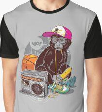 Hip-Hop Monkey Graphic T-Shirt