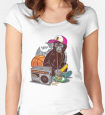 Hip-Hop Monkey Women's Fitted Scoop T-Shirt
