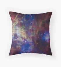 Knitted Tarantula Nebula Throw Pillow