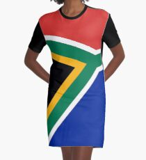 South African flag - Authentic color and scale Graphic T-Shirt Dress