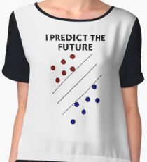 Support Vector Machine, Predict the Future Chiffon Top