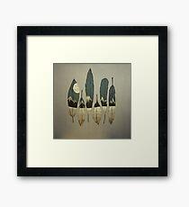 Die Vögel des Winters Gerahmtes Wandbild