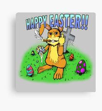 Scumbag Easter Bunny 1.2 Canvas Print