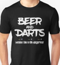 Beer & Darts Design Unisex T-Shirt