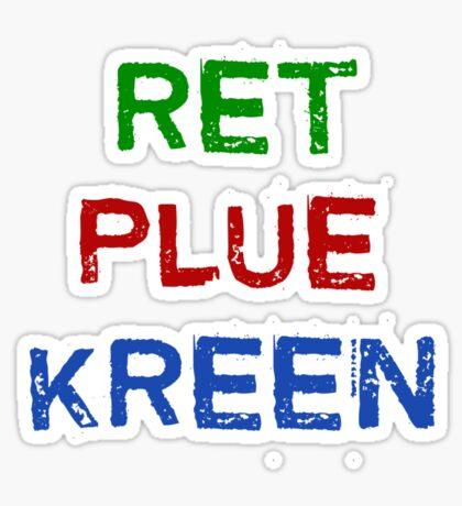 RED BLUE GREEN Sticker