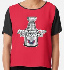 Washington Capitals NHL Play Offs Chiffon Top 7f40de663