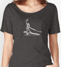River Serenity white Women's Relaxed Fit T-Shirt