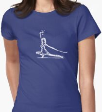 River Serenity white Womens Fitted T-Shirt