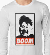 Kim Jong Un BOOM Long Sleeve T-Shirt
