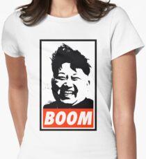 Kim Jong Un BOOM Women's Fitted T-Shirt