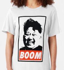 Kim Jong Un BOOM Slim Fit T-Shirt