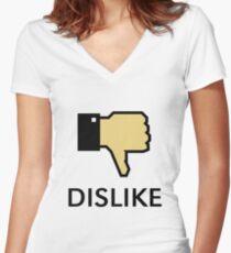Dislike (Thumb Down) Women's Fitted V-Neck T-Shirt