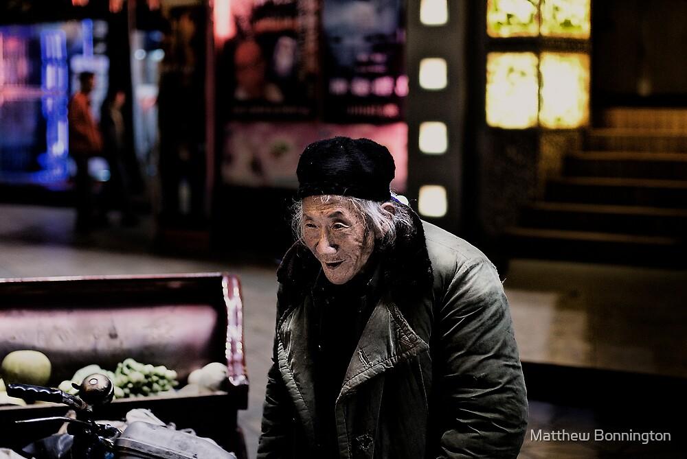 Homeless man by Matthew Bonnington