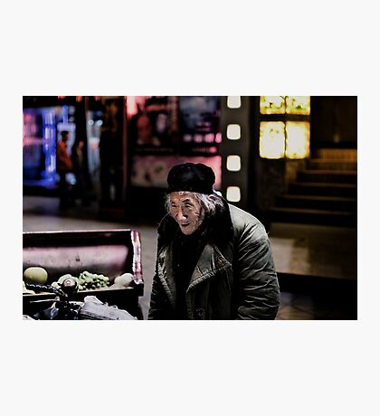 Homeless man Photographic Print