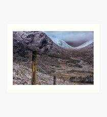 It's Cold, it's Glencoe, it's January Art Print