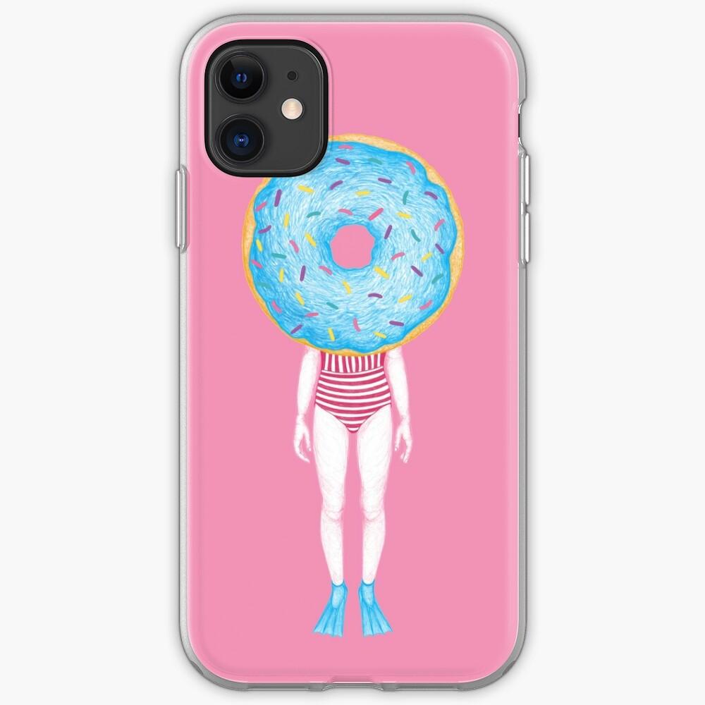 The Summer Treats : Blue Doughnut iPhone Case & Cover