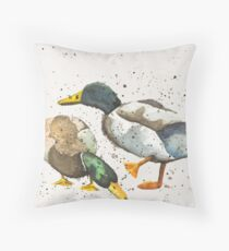 Country Ducks Throw Pillow