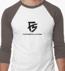 Featherscale FS Logo black Men's Baseball ¾ T-Shirt
