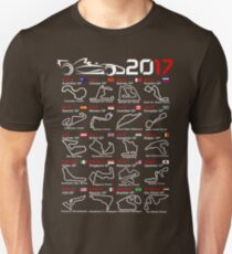 Calendar F1 2017 named circuits Unisex T-Shirt