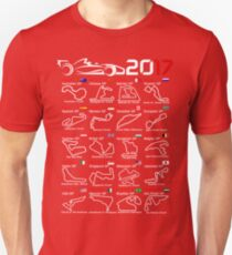 Calendar F1 2017 named circuits T-Shirt