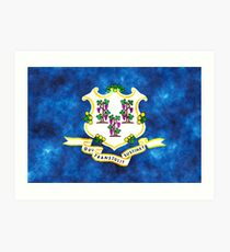 Connecticut State Flag Graphic USA Styling Art Print