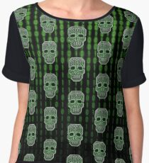 Skull Hacker Pattern Chiffon Top