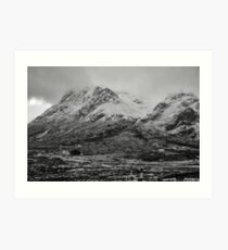 Buachaille Etive Mhor and Lagangargbh Cottage, Glencoe Art Print