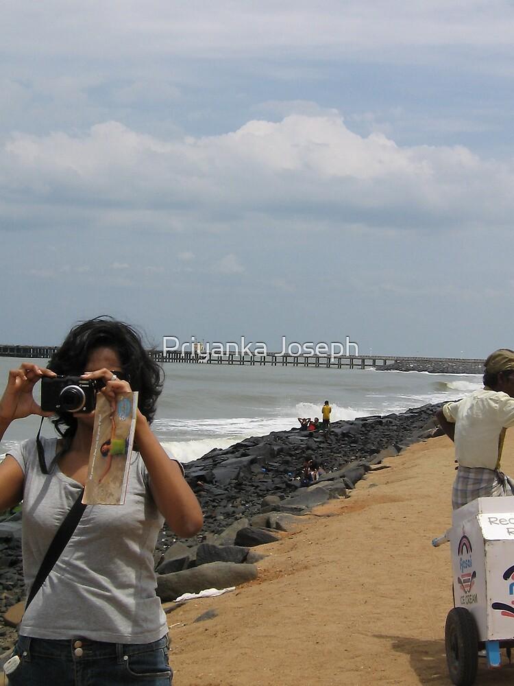 girl on the beach by Priyanka Joseph