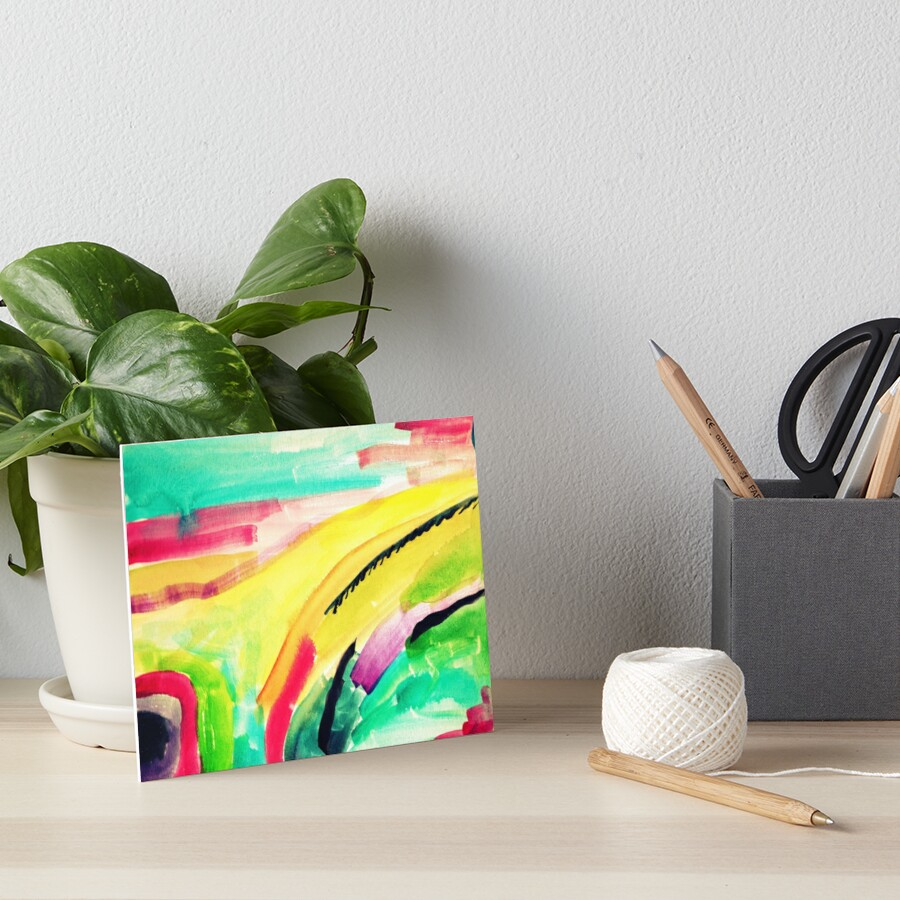 Colorful Abstract Painting in WaterColor by MyArt23