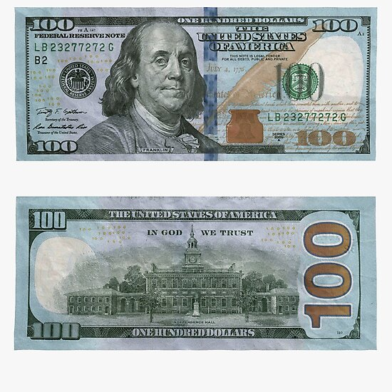 Quot 100 Dollar Bill Money Quot Photographic Print By Rocklanone