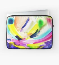Colorful Watercolor Abstract Painting Laptop Sleeve