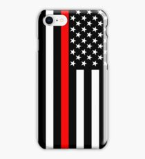 Firefighters Red Line US Flag iPhone Case/Skin