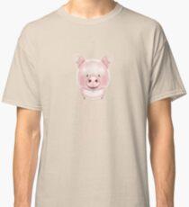 PEACE LOVE PIGS VEGAN Classic T-Shirt