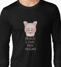 PEACE LOVE PIGS VEGAN T-Shirt