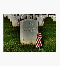 Unknown US Soldier Photographic Print