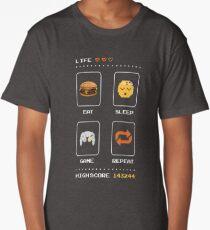 Eat Sleep Game Repeat Long T-Shirt