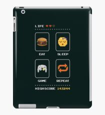 Eat Sleep Game Repeat iPad Case/Skin