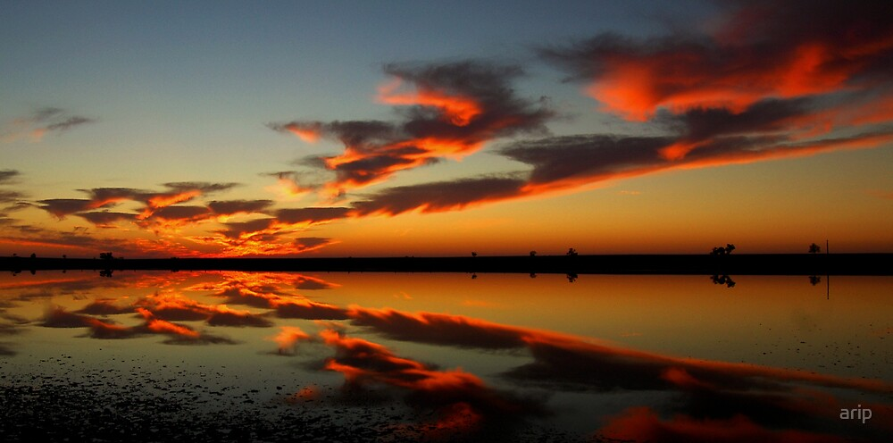 Sunrise over Sea Lake by arip