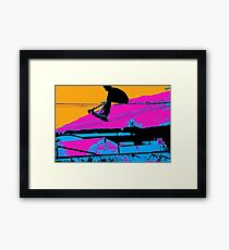 Tail Grabbing High Flying Scooter Framed Print