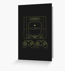Sega Saturn outlines (black) Greeting Card