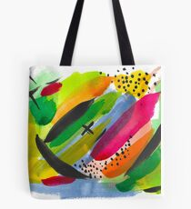 Colorful Watercolor Abstract Painting Tote Bag