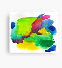 Colorful Watercolor Abstract Painting Canvas Print