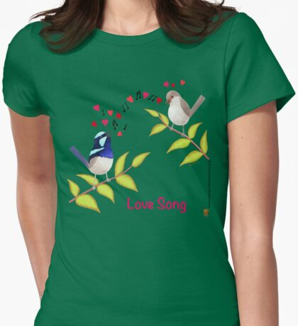 Adorable Blue Wren Birds Love Song T-Shirt