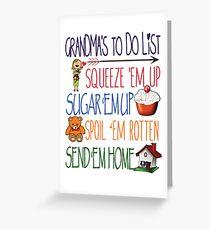 Grandma's To Do LIst - Grandma Gifts Greeting Card