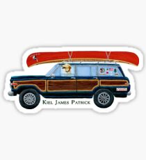 KJP Car Red Sticker