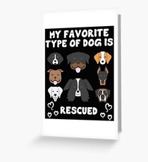 Rescue Dog Design Greeting Card