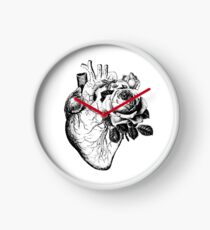 Floral Anatomical Heart Clock