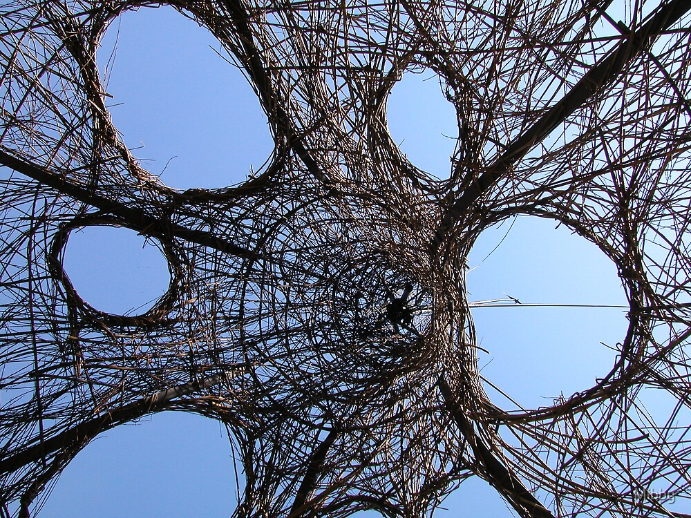 Wicker Sculpture by Mibby