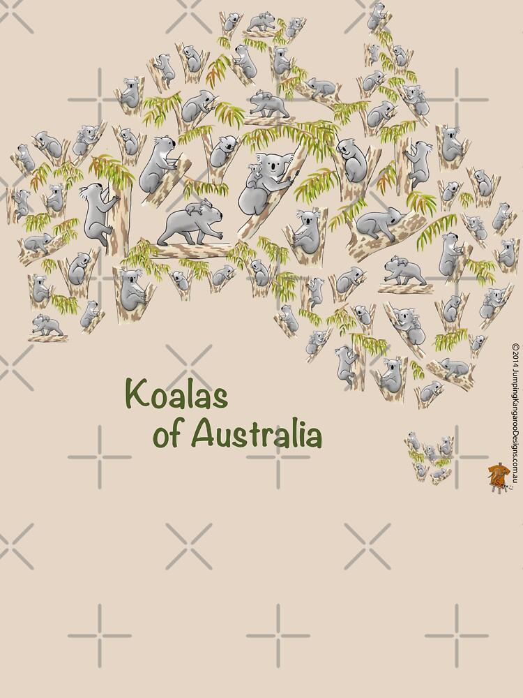 Cute Koalas Australia Map by JumpingKangaroo